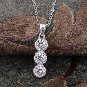 Jewelry - ✨Dainty Bezel Crystal  925 Silver Necklace✨